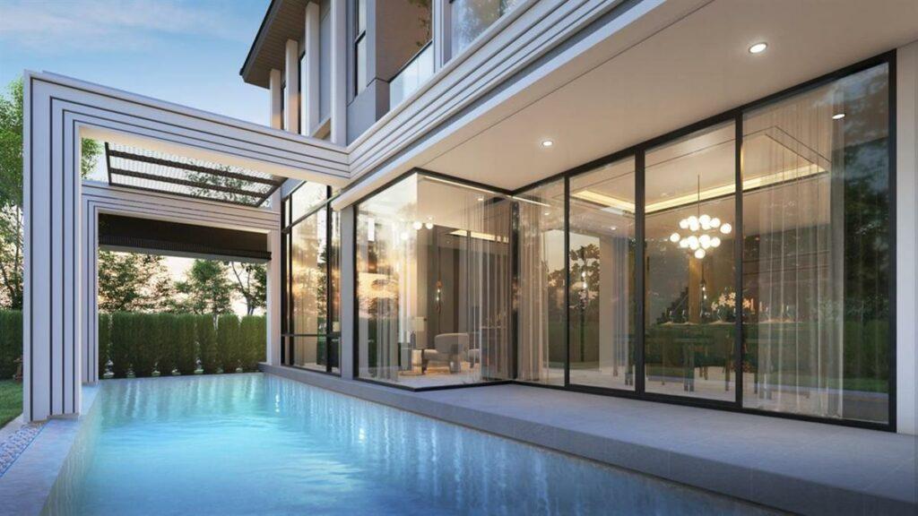 บ้านพร้อมสระว่ายน้ำหรูหราแบบluxury